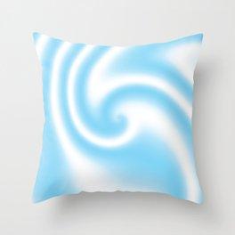 Blue Raspberry Ribbon Candy Fractal Throw Pillow