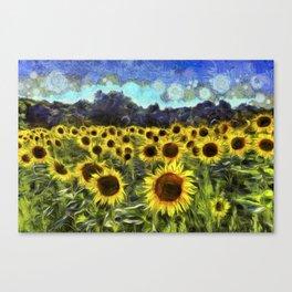 Sunflowers Van Goth Canvas Print