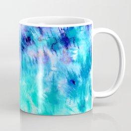 modern boho blue turquoise watercolor mermaid tie dye pattern Coffee Mug