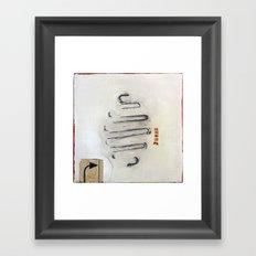 Number Three Framed Art Print