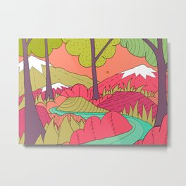 A spring forest river  Metal Print