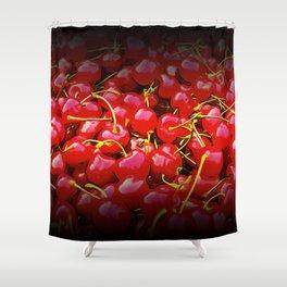 cherries pattern reaclistd Shower Curtain
