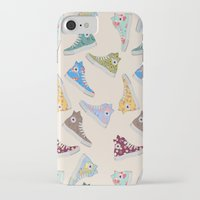 converse iPhone & iPod Cases featuring Converse  by SarahBoltonIllustration