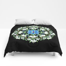 Folkloric Flower Crown Comforters