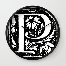 Monogram P Wall Clock