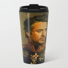 Robert Downey Jr. - replaceface Metal Travel Mug
