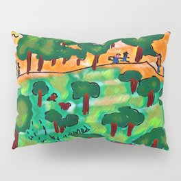 The trip in the wood Pillow Sham