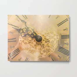 Old Wall Clock Vintage Style Photo Metal Print