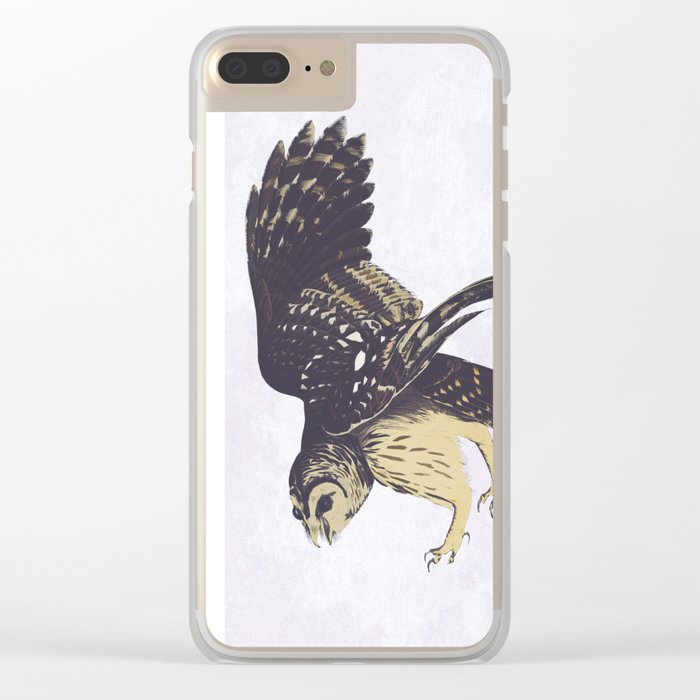 Solitary Owl Clear iPhone Case