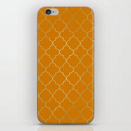 Turmeric Yellow & Gold Quatrefoil iPhone Skin