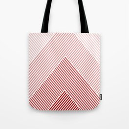 Shades of Red Abstract geometric pattern Tote Bag