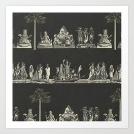 Hindu Antracita  Art Print