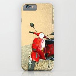 Vespa in Red iPhone Case