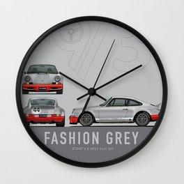 1973 RSR Tribute Fashion Grey Julian Reznik Red Pops Wall Clock