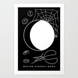Waxing Gibbous Moon Art Print