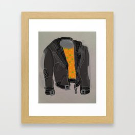 Leather jacket Framed Art Print
