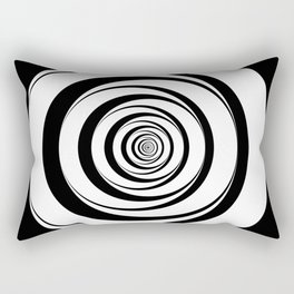 Black White Circles Optical Illusion Rectangular Pillow