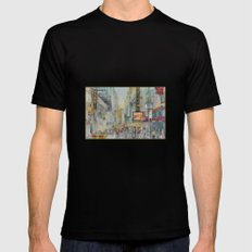 Broadway,  New York - Five O'Clock Revised MEDIUM Mens Fitted Tee Black