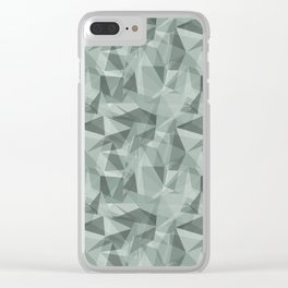 Abstract Geometrical Triangle Patterns 3 Valspar America Sea Green - Green Water - Zinc Blue Clear iPhone Case