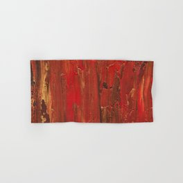 Tree Bark, Abstract Acrylic Hand & Bath Towel