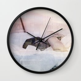 Sleeping in the city Wall Clock