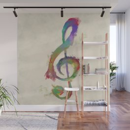 Treble Clef Wall Mural