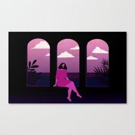 Mediterranean Summer Night Canvas Print