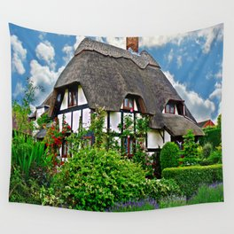 Quaint English Cottage Wall Tapestry