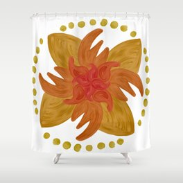 Fire Mandala Shower Curtain