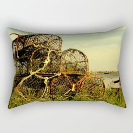 Lobster Pots Rectangular Pillow