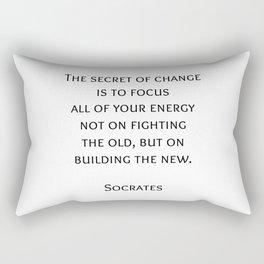 The secret of change - Socrates Greek Philosophy Quote Rectangular Pillow