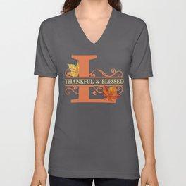 Thanksgiving L Monogram Unisex V-Neck