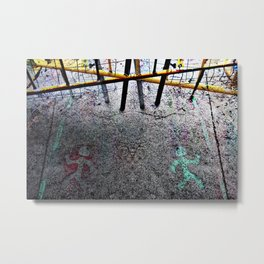 From far away enough it could seem like a dance... Metal Print