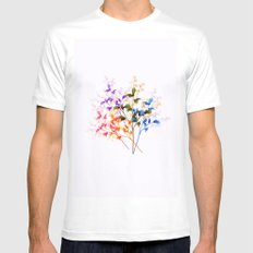 Itty Bitty Flowers Mens Fitted Tee White MEDIUM