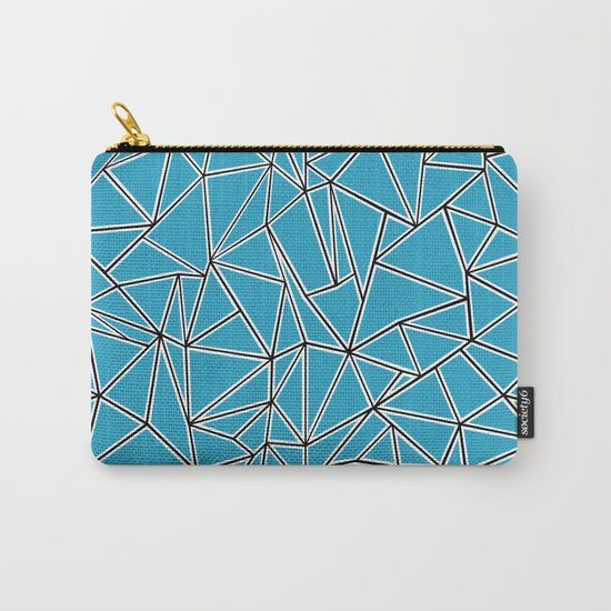 Shattered Ab Blue Carry-All Pouch