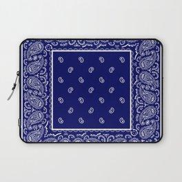 Blue and White Bandana Laptop Sleeve