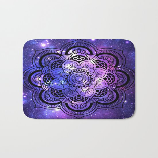 Mandala : Purple Blue Galaxy Bath Mat