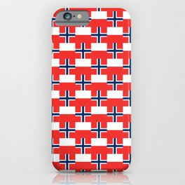 Mix of flag: norway and poland iPhone Case