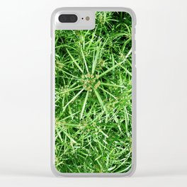 grass in the spring on the threshold of flowering Clear iPhone Case