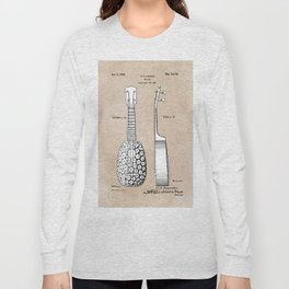 patent art Kamaka Ukulele 1927 Long Sleeve T-shirt