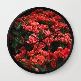 red flora #society6 #decor #buyart Wall Clock