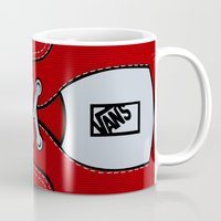vans Mugs featuring Red Vans shoes iPhone 4 4s 5 5s 5c, ipod, ipad, pillow case and tshirt by Three Second