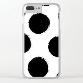 Black circles Clear iPhone Case
