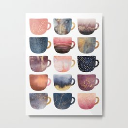 Pretty Coffee Cups 2 Metal Print