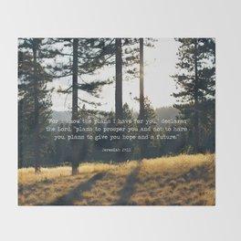 Golden Jeremiah 29:11 Throw Blanket