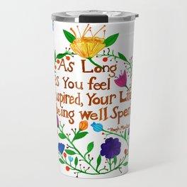 Live an Inspired Life Travel Mug