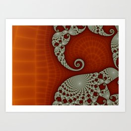 Cresting Lace Wave Art Print