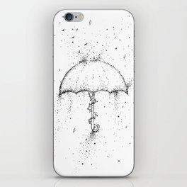 Umbrella Black and White Artwork iPhone Skin