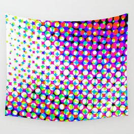 Blue Pink Pattern Design Wall Tapestry