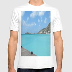 St. Maarten Mens Fitted Tee White MEDIUM